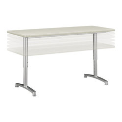 Hon - Basyx Adjustable-Height Worktable - Maybe it's time for a raise. Or maybe it's time to go lower. It's up to you with this adjustable height worktable. The light gray top offers plenty of room as a workstation, marketing display area or cake stand — to help celebrate the office birthdays.