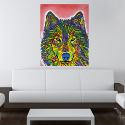 My Wonderful Walls - Wolf Wall Sticker - Decal, Small - - Wolf graphic by Dean Russo