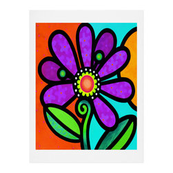 DENY Designs - DENY Designs Steven Scott Cosmic Daisy In Purple Art Print - Finally an affordable wall art option! Order one statement print or live on the edge and dream up an entire gallery wall. And whether you frame it or hang it as-is, your walls will be big on inspiration while being kind on your pocketbook.