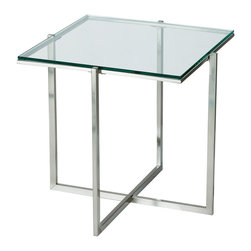 Adesso - Adesso HX1127-22 Glacier End Table-Ss - Adesso HX1127-22 Glacier End Table-SS