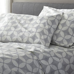 """Cate Blue Queen Sheet Set - Taking note of the stunning textiles of India's Rajasthan region, the Cate collection recreates the artisanal play of organic and geometric forms in vibrant color. Versatile look in soft, cotton percale mixes and matches for a varied, layered bed. Generous 16 """" pockets accommodate thicker mattresses. Bed pillows also available."""
