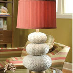 Regina Andrew - Regina Andrew Stacked Sea Urchin Table Lamp - Stacked sea urchin table lamp.