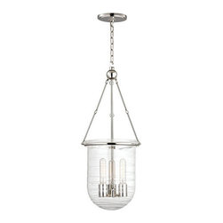Hudson Valley Lighting - Hudson Valley Lighting 213 Willet 3 Light Foyer Pendant - Stripped of filigree and flourish, Willet's clean metalwork makes way for our fresh interpretation of a celebrated classic. Master glass-crafters fused an artful array of clear rods to Willet's mouth-blown glass a dazzling effect that brings the bell-jar lantern into the twenty-first century.Dimensions: