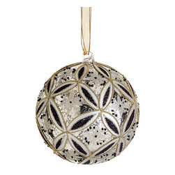 Silk Plants Direct - Silk Plants Direct Glass Stylized Snowflake Ball Ornament (Pack of 6) - Pack of 6. Silk Plants Direct specializes in manufacturing, design and supply of the most life-like, premium quality artificial plants, trees, flowers, arrangements, topiaries and containers for home, office and commercial use. Our Glass Stylized Snowflake Ball Ornament includes the following: