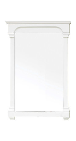 Bellaterra Home - 24 Inch Solid Wood Frame Mirror - Solid wood construction frame with high quality mirror to withstand bathroom humidity. Dimension: 24 W x 2.4 D x 41.5 H