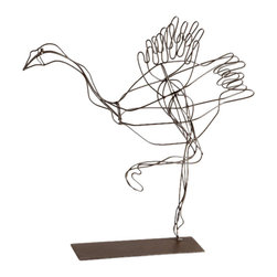 Cyan Design - Flight Of Fancy Sculpture - Small flight of fancy sculpture - graphite.