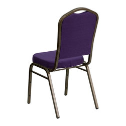 Flash Furniture - Flash Furniture Banquet Stack Chairs Banquet Stack Chairs X-GG-VG-RUP-10C-DF - This is one tough chair that will withstand the rigors of time. With a frame that will hold in excess of 500 lbs., the HERCULES Series Banquet Chair is one of the strongest banquet chairs on the market. You can make use of banquet chairs for many kinds of occasions. This banquet chair can be used in Church, Banquet Halls, Wedding Ceremonies, Training Rooms, Conference Meetings, Hotels, Conventions, Schools and any other gathering for practical seating arrangements. The banquet chair is also great for home usage from small to large gatherings. For any environment that you use a banquet chair it will put your guests at a greater comfort level with the padded seat and back. Another advantage is the stacking capability that allows you to move the chairs out of the way when not in use. With offerings of comfort and durability, you can be assured that you can enjoy this elegant stacking banquet chair for years to come. [FD-C01-PUR-GV-GG]