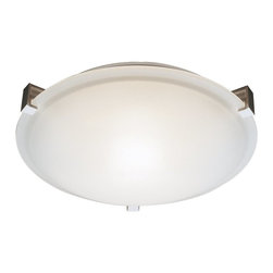Trans Globe Lighting - Trans Globe Lighting TG-59008 Frosted Clipped Modern / Contemporary Flush Mount - Modern contemporary flushmount ceiling light. Glass is clipped to ceiling plate with color finished clips. Mount to ceiling or wall. Listed for Damp location.