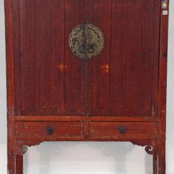 Chinese 2-door Armoire Cabinet - Chinese 2-door Armoire Cabinet