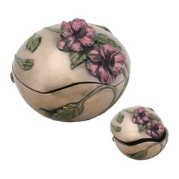 Summit - Art Nouveau Poppy Box Display Decoration - This gorgeous Art Nouveau Poppy Box Display Decoration has the finest details and highest quality you will find anywhere! Art Nouveau Poppy Box Display Decoration is truly remarkable.