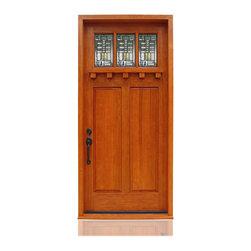 "Craftsman Collection | 2601 - Species: VGDF, Distress: Sierra, Hinges: 4.- 5"" Ball Bearing Hinges Satin Nickel, Exterior Door"