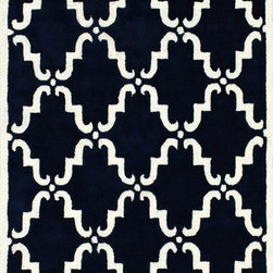 Nuloom - nuLOOM Handmade Marrakesh Trellis Navy Blue Wool Rug (3' x 5') - Inspired by the latest trends in Moroccan trellis patterns,these rugs will add a touch of classic to any decor. This rug is woven with 100-percent wool.