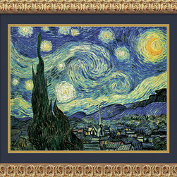 Amanti Art - The Starry Night Framed Print by Vincent Van Gogh - If you can't go to Arles, let Arles come to you. New York's MOMA has the original post-impressionist work of Vincent van Gogh's view of Arles from his asylum window. Now you can own a beautiful reproduction of this famous piece for a fraction of the price.
