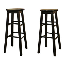 American Heritage - American Heritage Classic Stool in Black - 26 Inch (Set of 2) - Its name says it all. This Classic stool not only looks great but has the versatility to use in every room of your house.