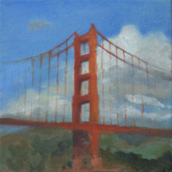 Golden Gate Bridge  (Original) by Ai-Ling Tseng - This is a small plein air painting of Golden Gate Bridge in San Francisco.