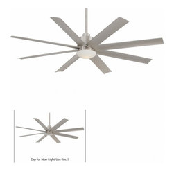 """Minka Aire - Slipstream 65"""" Ceiling Fan - Sleek industrial styling destines this 8-bladed wonder to make a cool statement in any indoor or outdoor setting."""