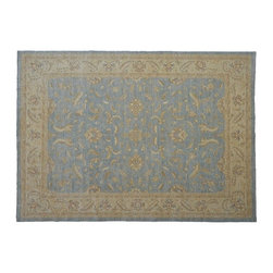 Area Rug, Ziegler Mahal 9'X12' 100% Wool Stone Wash Hand Knotted Rug SH8013 - Hand Knotted Oushak & Peshawar Rugs are highly demanded by interior designers.  They are known for their soft & subtle appearance.  They are composed of 100% hand spun wool as well as natural & vegetable dyes. The whole color concept of these rugs is earth tones.
