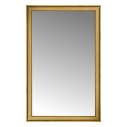 """Posters 2 Prints, LLC - 48"""" x 75"""" Arqadia Gold Traditional Custom Framed Mirror - 48"""" x 75"""" Custom Framed Mirror made by Posters 2 Prints. Standard glass with unrivaled selection of crafted mirror frames.  Protected with category II safety backing to keep glass fragments together should the mirror be accidentally broken.  Safe arrival guaranteed.  Made in the United States of America"""