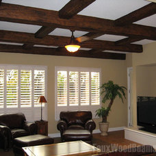 Contemporary Family Room by FauxWoodBeams