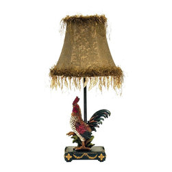 Dimond - Dimond 7-208 Petite Rooster Tropical Table Lamp - Dimond 7-208 Petite Rooster Tropical Table Lamp