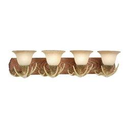 Vaxcel Lighting - Vaxcel Lighting VL33024 Lodge 4 Light Vanity Light - Features: