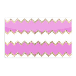 "Kess InHouse - Monika Strigel ""Avalon Pink Chevron"" Rose White Aluminum Magnet - Decorate your fridge, locker or cubicle at work with small aesthetic pops of color. Made of a durable aluminum, these premium magnets are hand pressed and measure 3"" x 2"". Great for holding up to do lists, photos or coupons, these small pieces of art can make your fridge your own personal gallery."