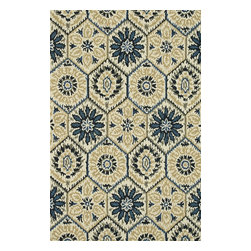 Loloi Rugs - Loloi Rugs Taylor Ivory-Navy Transitional Rug X-6705VNVI60YTHLYAT - The colors are vivid and the designs are beautiful, but what's really special about the Taylor Collection is its knobby, textural feel underfoot. That's because each Taylor rug is hand-hooked by skilled artisans in India to form a thick 100% wool pile. And with transitional designs ranging from trendy chevron patterns to fresh damasks, it's easy to find just the right style for your home.