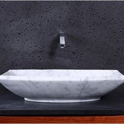 "Virtu USA - Virtu USA Kirke Vessel Sink - Bianco Carrara - Providing classic warmth, the Kirke Marble vessel basin establishes a sleek, complementary centerpiece to your bathroom vanity. It is transitionally designed to be mounted over the countertop for an elegant and classic appearance. The construction of this natural stone vessel adds enduring strength while maintaining pure elegance that works with many interior styles. Virtu USA uses the finest selection of raw materials to ensure the highest quality product. With a durable glaze to ensure lasting beauty, the Kirke basin makes a sophisticated and practical addition to any bathroom improvement.FeaturesMaximum Dimensions: 23.6"" W x 15.7"" D x 5.1"" HPolished Finish Natural Bianco Carrara Marble StoneConstructed natural stone for durability and enduring strengthPolished finish gives the smooth surface a shiny, glossy lookHighly resistant to stains and easy to wipe cleanWithstands heat for handling extreme temperaturesAdditionally tolerant to extreme temperature changesTransitionally carved to give off a timeless designInstalls over the countertop in a freestanding configurationDrain hole template provided for easy installationRequires vessel drain without overflowNo Assembly RequiredLifetime Limited from Virtu USAVirtu USA reserves the right to repair, replace or refund any products resulting from a manufacturer's defect."