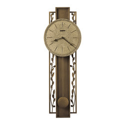 Howard Miller - Howard Miller Wrought Iron Pendulum Wall Clock | TREVISSO WALL - 625341 TREVISSO WALL