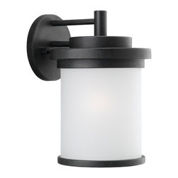 "Sea Gull Lighting - Sea Gull Lighting 88661-185 Winnetka Transitional Outdoor Wall Sconce - Clean design lends itself to ""modern-mission"". Geometric, cylinder design needs little ornamentation to offer big style."