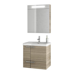 ACF - 23 Inch Larch Canapa Bathroom Vanity Set - Made in Italy, this vanity set was designed by ACF in a contemporary style.
