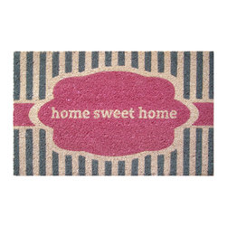 Entryways - Home Sweet Home Non Slip Coir Doormat - This beautifully designed doormat will enhance your entry way or patio. It's made from the highest quality all natural coconut fiber with a PVC non slip backing.