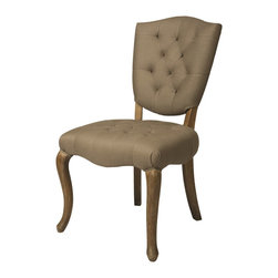 Pastel Furniture - Pastel Furniture Philadelphia Side Chair X-720-ID-011-PP - The Philadelphia Side Chair is a beautiful classic chair with intricate design details. The chair is finished in Distress Charcoal wood and elegantly upholstered in Grey My Linen or Cream My Linen. This chair with its unique classic design is a timeless masterpiece.