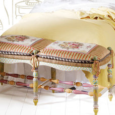 Eclectic Bedroom Benches by Neiman Marcus