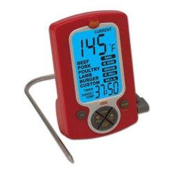 Taylor - Weekend Warrior Remote Probe Cooking Thermometer/Timer - Weekend Warrior Remote Probe Digital Cooking Thermometer/Timer - backlight