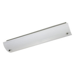 """Progress Lighting - P7218-09EB Ribbed Linear Bath Two Light Linear Fluorescent Bath Brushed Nickel - 24"""" Linear Fluorescent Vanity with ribbed profiling. Fixture mounts horizontally or vertically on the wall, as well as on the ceiling."""