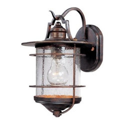 """Franklin Iron Works Casa Mirada 12"""" High Outdoor Light - I can't resist the seeded glass and pretty profile of this nautical-inspired light fixture."""