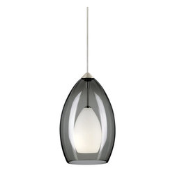Tech Lighting - Tech Lighting 700MOFIRKC MOFire Pend smoke, ch - Rich, translucent Murano glass surrounds a small frost raindrop glass. Includes lowvoltage, 35 watt halogen bipin lamp and six feet of fieldcuttable suspension cable.