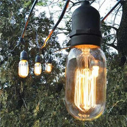 Decorative Outdoor String Lights - I love the Edison bulb style of these string lights.