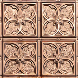 "Decorative Ceiling Tiles - Tom's Flower - Copper Ceiling Tile - 24""x24"" - #1217 - Find copper, tin, aluminum and more styles of real metal ceiling tiles at affordable prices . We carry a huge selection and are always adding new style to our inventory."