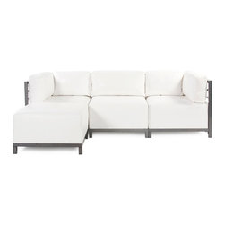 Howard Elliott - Howard Elliott Atlantis White Axis 4pc Sectional - Titanium Frame - Axis 4pc sectional Atlantis white titanium frame