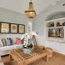 Mediterranean Living Room by Western Pacific Construction