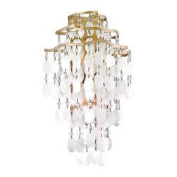 Corbett Lighting - Corbett Lighting 109-12 Dolce Champagne Leaf Wall Sconce - Corbett Lighting 109-12 Dolce Champagne Leaf Wall Sconce
