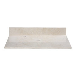 Xylem - Xylem 49W x 22D in. Marble Vanity Top for Vessel Sink - 514814 - Shop for Bathroom Counter Tops from Hayneedle.com! The perfect way to top off your dream bathroom is with the Xylem 49W x 22D in. Marble Vanity Top for Vessel Sink. Gorgeously crafted of sleek cool marble the feeling of luxury is certain to radiate throughout your space. One pre-drilled hole makes drain installation a snap while the design is ideal for your vessel sink. Sink and faucet not included. Available in your choice of color.About XylemDesigning assorted and diverse groups of bathroom vanities faucets mirrors and sinks in classic and contemporary styles sets Xylem apart from the competition. With a huge selection to choose from they are able to present chic bathroom styles that are both fashionable and functional. Creating original products and designs with quality craftsmanship the people at Xylem are inclined to offer exclusive bath furniture fixtures countertops and fittings to their customers at an affordable price while providing outstanding customer care.