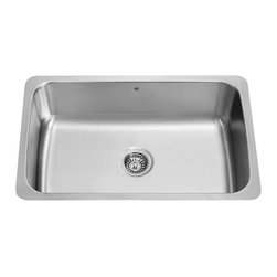 Vigo - VIGO VG3019C Single Bowl Sink - The VIGO undermount kitchen sink complements any decor and is highly functional. Every design detail is featured in this sink to meet your needs.