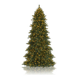 "Balsam Hill - 6.5' Balsam Hill® Berkshire Mountain Fir� Artificial Christmas Tree - One of our most popular artificial Christmas trees, the beautiful and versatile Berkshire Mountain Fir contains all the features of a regular Balsam Hill tree in one slim package. This 6.5 foot pre-lit easy setup tree will sparkle and dazzle with its Clear warm glow lights. Setting up those lights will be a cinch with our Easy Plug� design, which eliminates tangled light strings and automatically connects them through the trunk of the tree. Also included with this tree is a scratch-proof tree stand, soft cotton gloves for shaping the tree, storage bag, extra bulbs and fuses, and an on/off foot pedal for lights. As the best artificial Christmas tree manufacturer that is the #1 choice for set designers for TV shows such as ""Ellen"" and ""The Today Show"", in addition to being a recipient of the Good Housekeeping Seal of Approval, our trees are backed by either a 10-year or 5-year foliage warranty (depends on the size of the tree) and a 3-year light warranty. Free shipping when you buy today!"