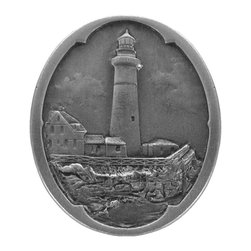 By the Shore - Guiding Lighthouse Knob in Antique Pewter