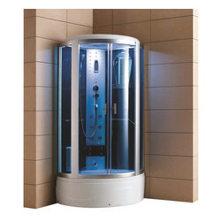 Eagle Bath - Eagle Bath 36 Inch Steam Shower Enclosure w/Tub - Clear Glass - Unit must be hardwired to a dedicated 110v line with GFCI breaker. Electric Voltage - 110v, 60HZ. Electric Current - 30A for Steam Generator. Steam Generator - 3KW. Hot & cold valve pipe size - 1/2 Inch. Overheat protection (the steam generator will be shut down automatically if the temperature of the box gets too hot). No water protection (if there is no water in the steam generator, it will shut down immediately). Flexible drain hose - Approximately 3ft long (If you are using the flexible drain hose, you should have your waste hole 1.6 ft away from the drain hole at the bottom of your acrylic base).