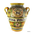Artistica - Hand Made in Italy - VENEZIA: Orcio Jar Acqua Rosata - MAJOLICA VENEZIA Collection: A superb Venetian pattern masterfully hand painted in Tuscany.