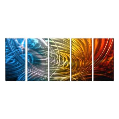 Matthew's Art Gallery - Metal Wall Art Abstract Modern Contemporary Sculpture Home Wall Decor Color Drop - Name: Color Drop